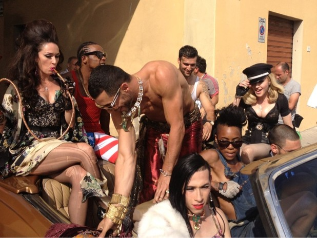 Madonna 'Turn Up The Radio' music video shoot.