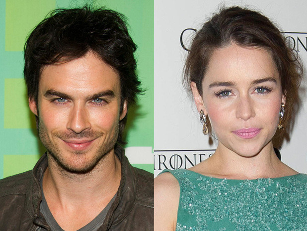 Ian Somerhalder and Emilia Clarke