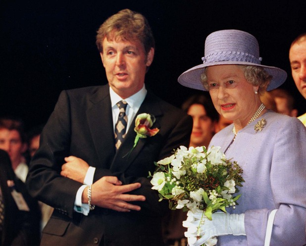 Paul McCartney and the Queen