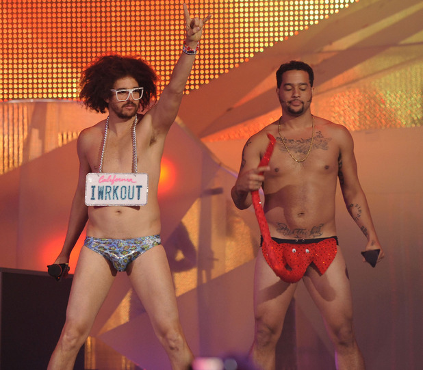Redfoo and SkyBlu of LMFAO MMVA 2012 (Much Music Video Awards) at the MuchMusic HQ - Show Toronto, Canada