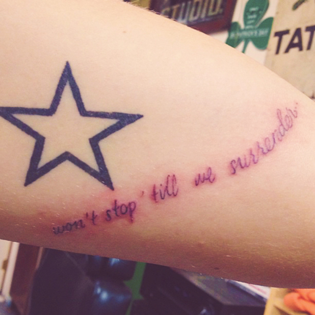 Harry Styles, Temper Trap, tattoo