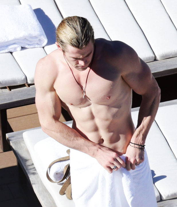 Chris Hemsworth, topless, sydney