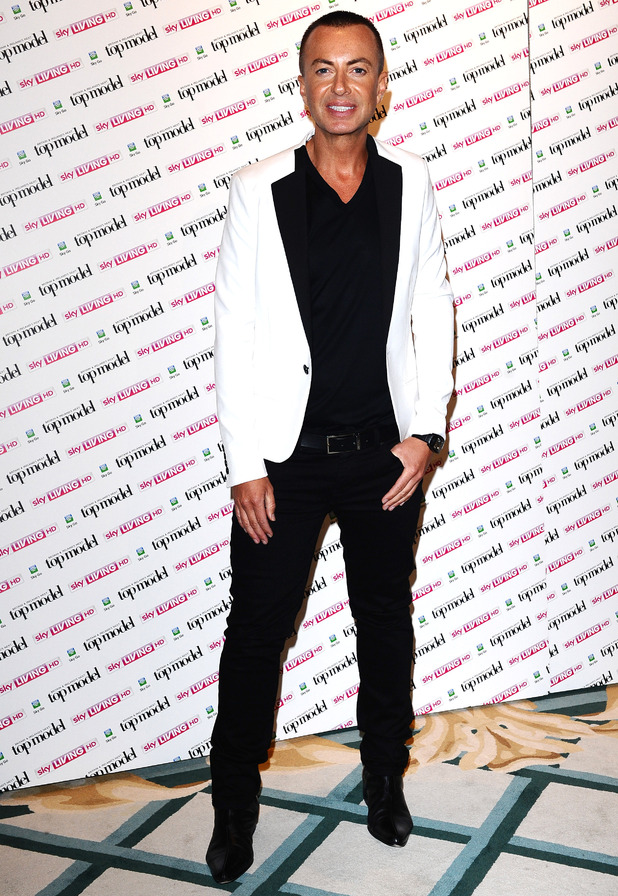 Julien MacDonald at the launch of Britain and Ireland's Next Top Model at Claridges Hotel in London
