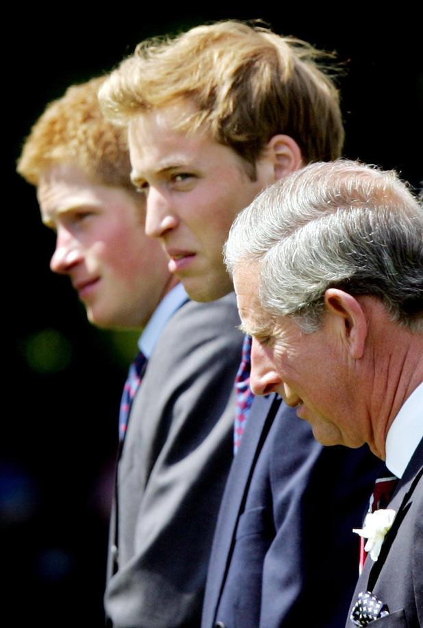 Prince Harry, Prince William and Prince Charles