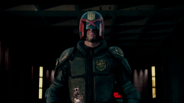 Karl Urban stars as 2000AD's iconic antihero in 'Dredd.'