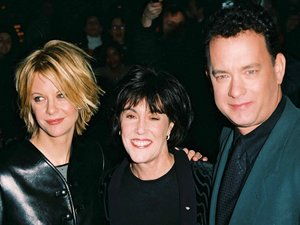 Nora Ephron with Meg Ryan and Tom Hanks
