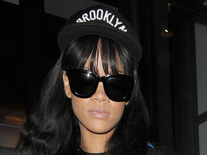 Rihanna leaving her hotel. London, England