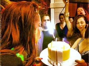 Cheryl Cole celebrates her birthday