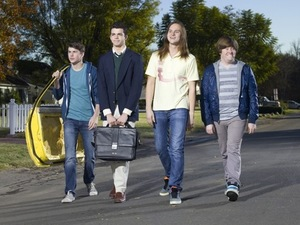The Inbetweeners US cast shot
