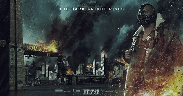 'The Dark Knight Rises' banner poster