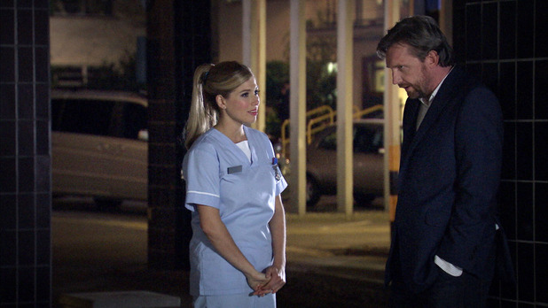 Chantelle Lane with James in Holby City