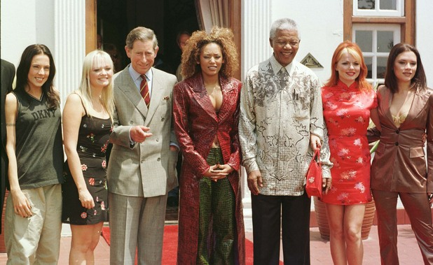 The Spice Girls and Nelson Mandela