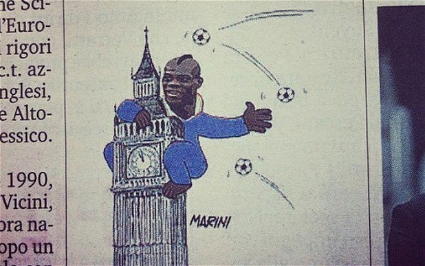 Gazzetta dello Sport depicts Mario Ballotelli as King Kong in cartoon