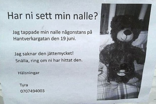 Swedish teddy bear