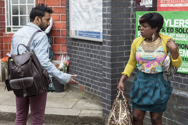 Masood's brother AJ arrives in Walford.