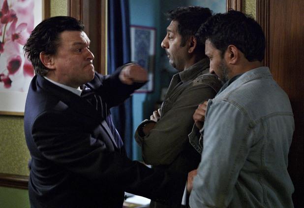 Derek punches AJ.