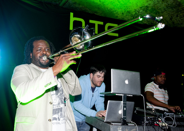 Rudimental and Jerome Harper at the HTC Desire S launch