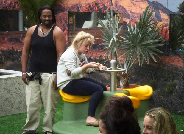 Caroline and Adam in the Big Brother garden