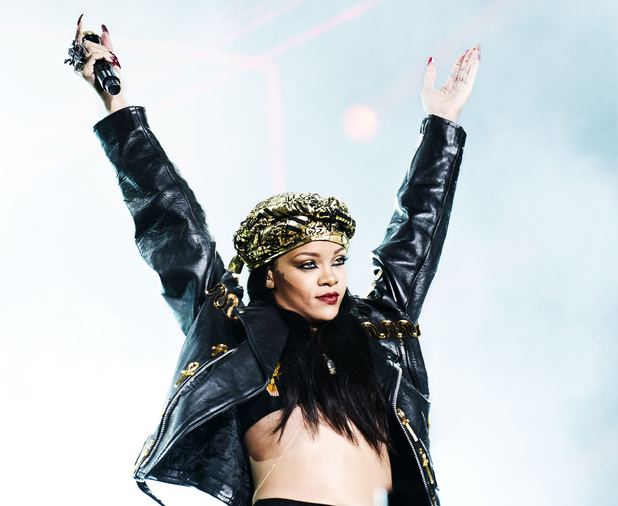 Rihanna at the Peace and Love festival, Sweden.