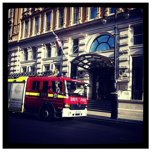 Rihanna posts pictures of London hotel fire incident on Instagram