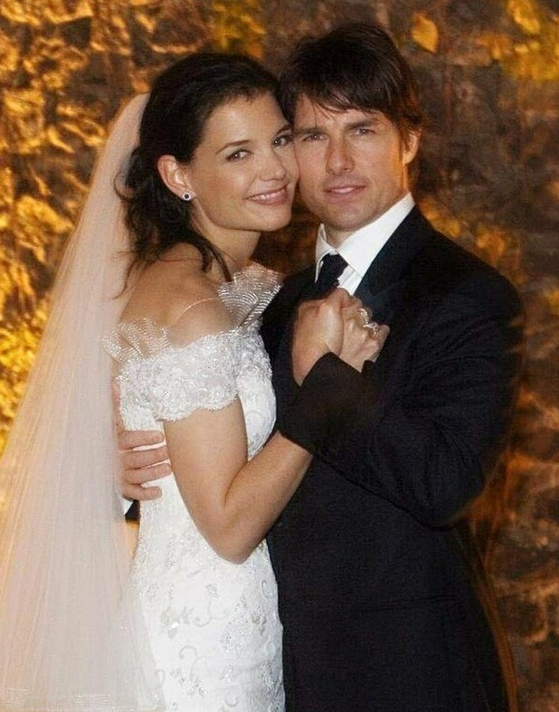 Tom Cruise and Katie Holmes on their wedding day in Italy on November 18, 2006