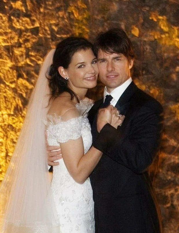 Tom Cruise and Katie Holmes on their wedding day in Italy on November 18 2006.