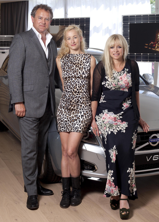 Goodwood Festival of Speed: Hugh Bonneville, Jo and Leah Wood.