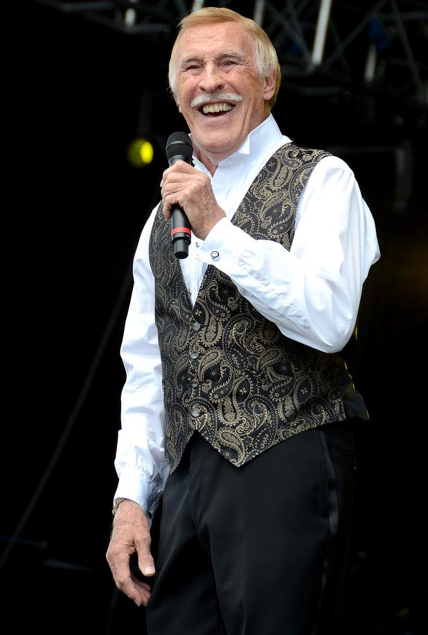 Sir Bruce Forsyth at the Hop Farm Music Festival 2012 - Day 2.