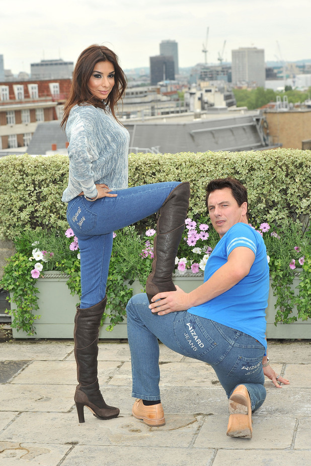 Shobna Gulati and John Barrowman Wizard jeans Rear of the Year award held at the Dorcester Hotel. London, England