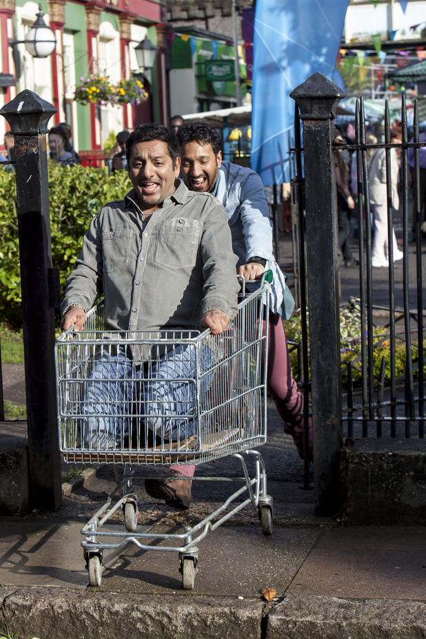 Masood Ahmed and AJ get up to mischief
