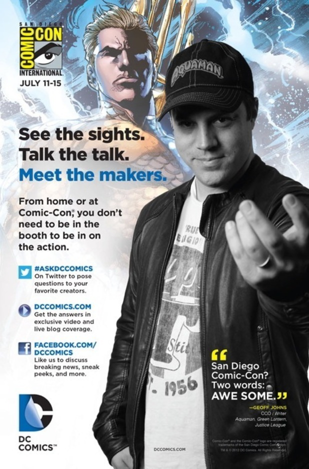 DC Comics San Diego Comic-Con ads Geoff Johns