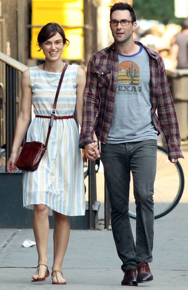 Keira Knightley and Adam Levine