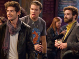 Screenshot of the Men at Work pilot episode, starring Michael Cassidy, Julian Morris, Dominic DeVore, Danny Masterson
