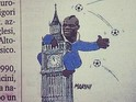 Gazzetta denies claims of racism over cartoon depicting striker as King Kong.