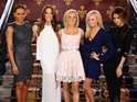 All five members of the Spice Girls appear at the Renaissance Hotel in London.
