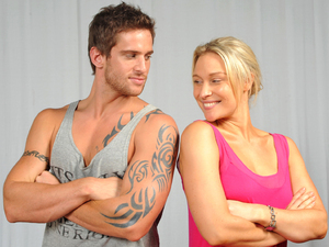 Dan Ewing and Lisa Gormley as Heath Braxton and Bianca Scott in Home and Away