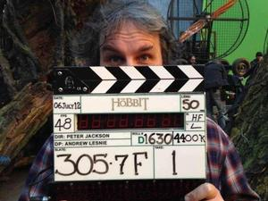 Peter Jackon on the set of 'The Hobbit' in New Zealend