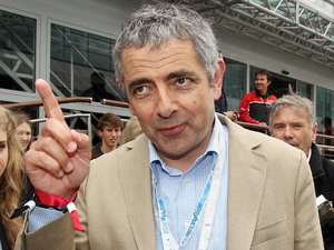 Silverstone Grand Prix: Rowan Atkinson