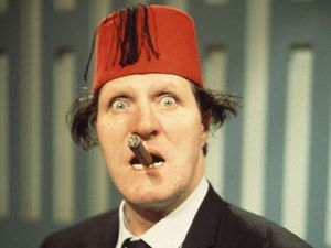 Comedian and magician Tommy Cooper