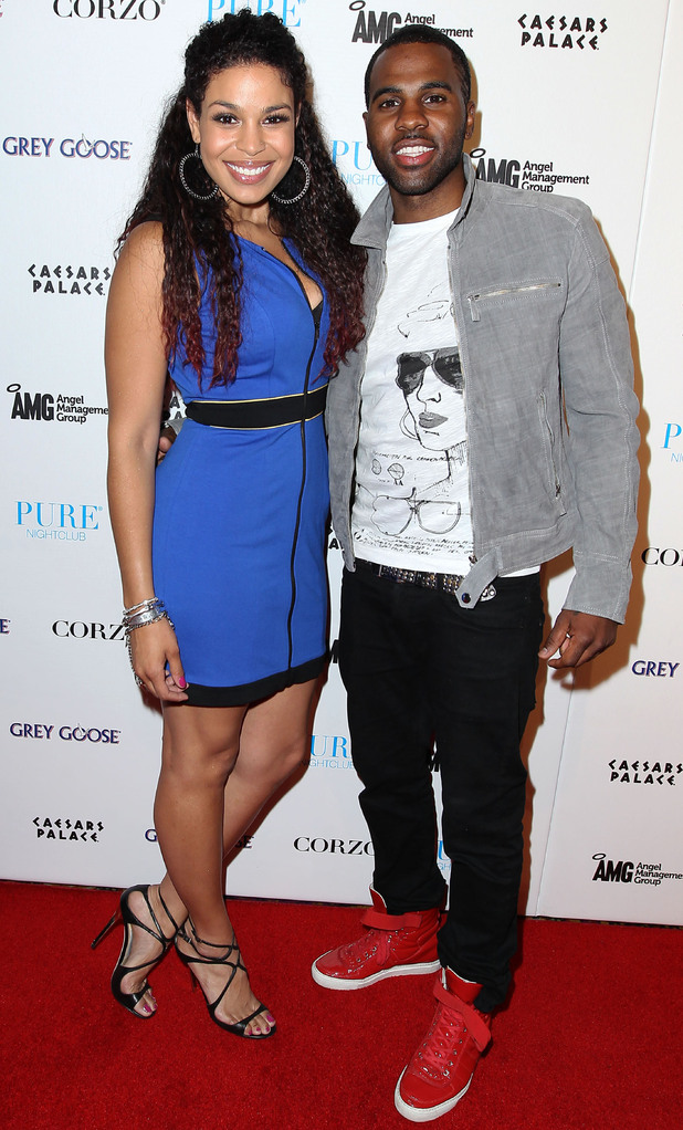Jordin Sparks and Jason Derulo at Pure nightclub, Las Vegas where Jason performed a live set.