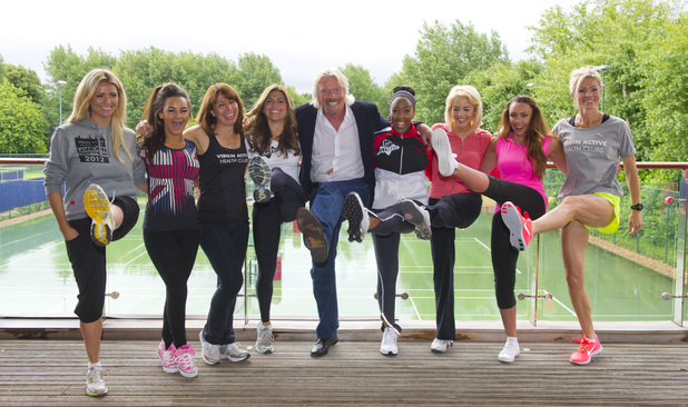 Celebrities at Virgin Active London Triathlon launch