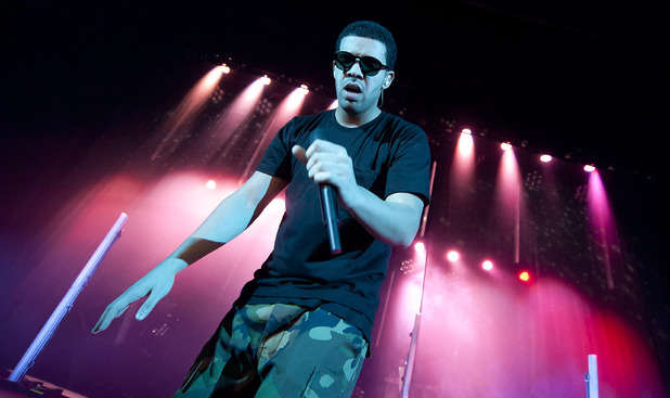 Drake performs at the Hammersmith Apollo in west London
