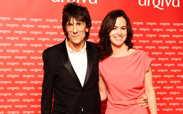 Ronnie Wood with new girlfriend Sally Humphreys, who is a theatre producer, at the Arqiva Commercial Radio Awards 2012