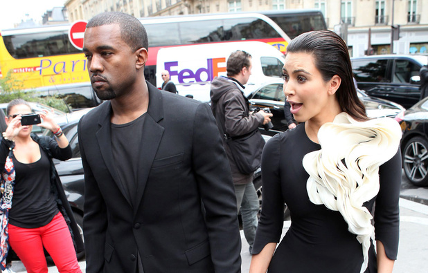 Kanye West, Kim Kardashian, Paris Fashion Week