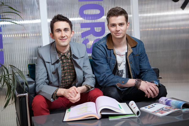 Hollyoaks George and Ryan in the Company magazine episodes