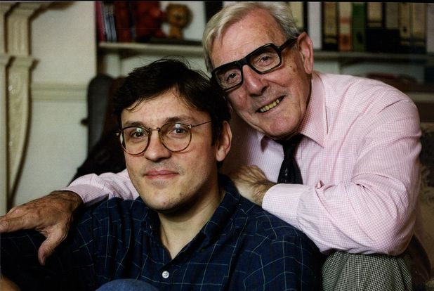 Eric Sykes with his son David