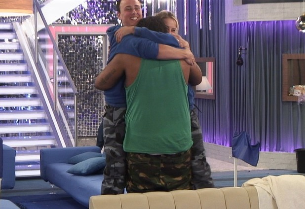 Big Brother Day 33: Adam, Lauren and Luke A share a group hug.