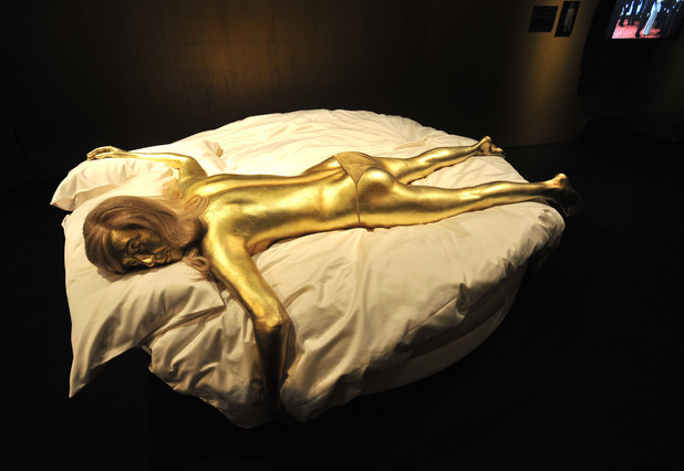 Jill Masterson's golden body from 'Goldfinger', 1964