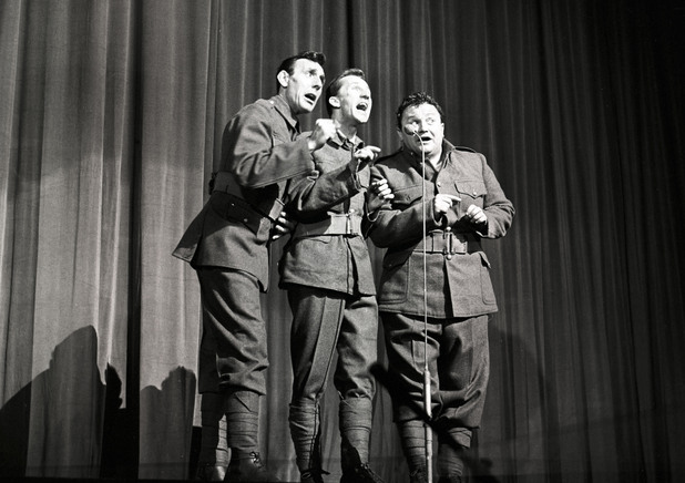 Eric Sykes, Norman Vaughan and Harry Secombe