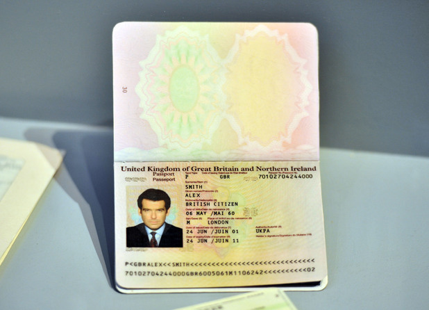 Pierce Brosnan's 007 passport